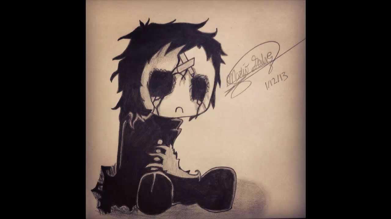 Sad Emo Girl Drawings Cartoon