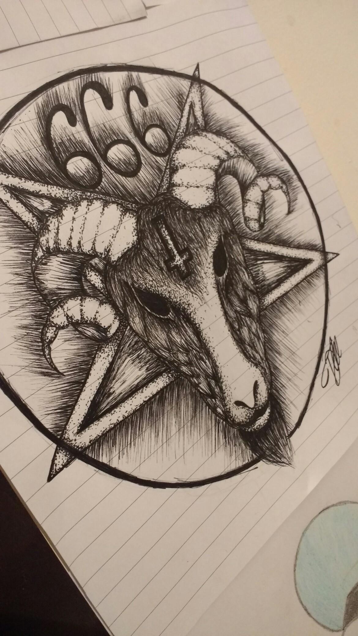Pentagram Pencil Drawings