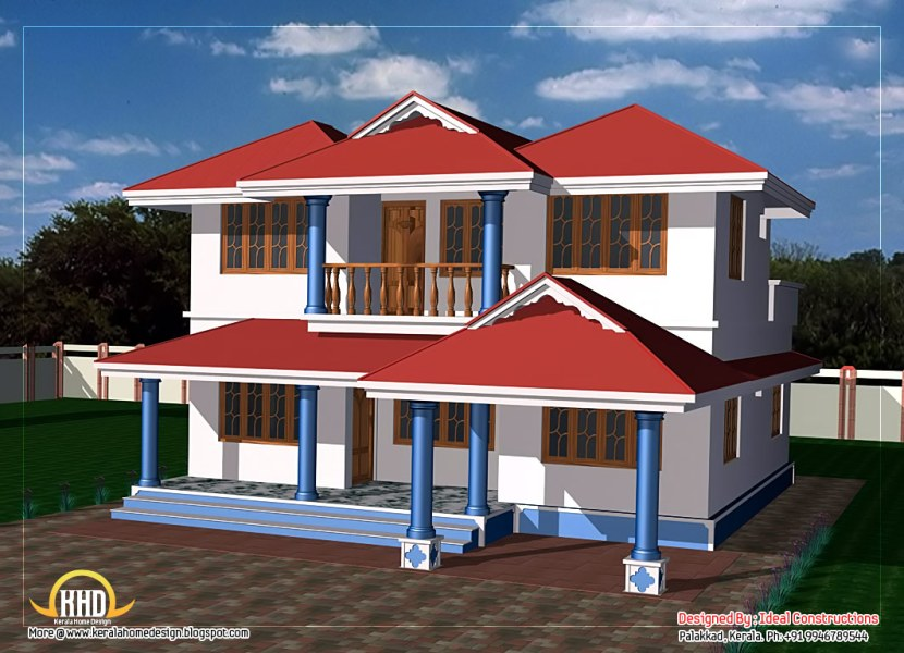 Two Story House Drawing at GetDrawings com   Free for personal use     1062x768 Two Story House Plan Kerala Home Design Floor