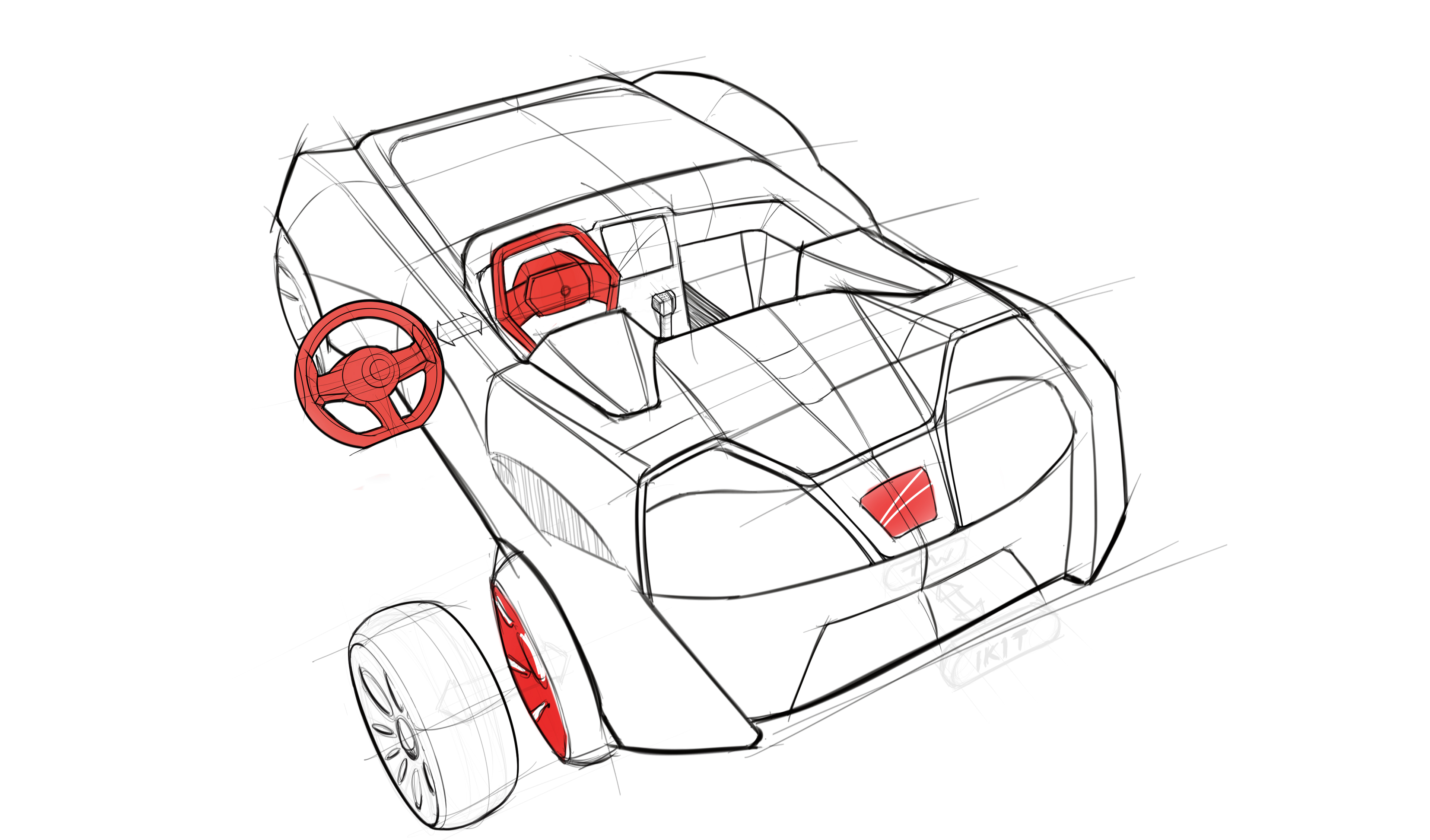 3d car drawing at getdrawings free for personal use 3d car