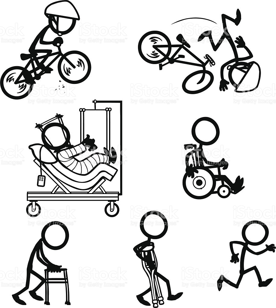 916x1024 stick figure people bike accident recovery vector id165954419 916