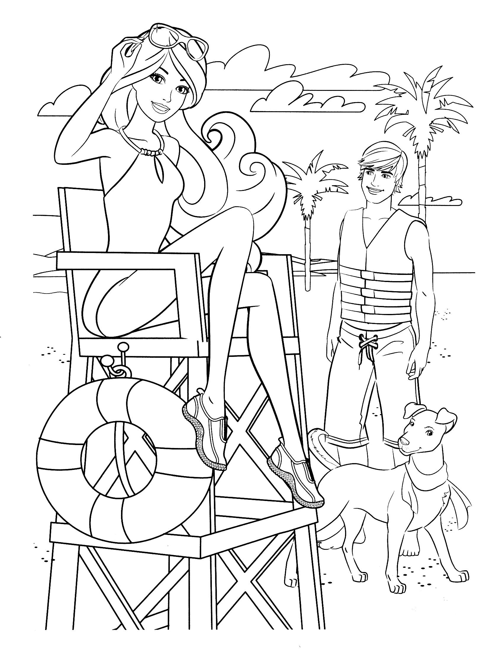 Disney Princess Mermaid Coloring Pages Print