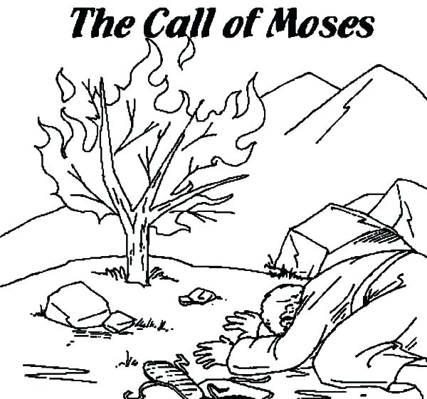 burning bush coloring page # 17