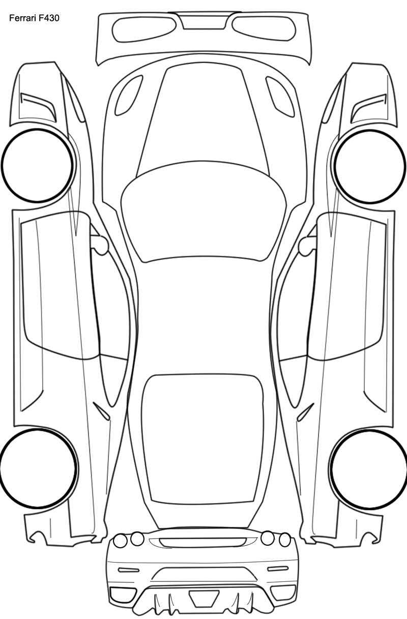 Car drawing top view at getdrawings free for personal use car
