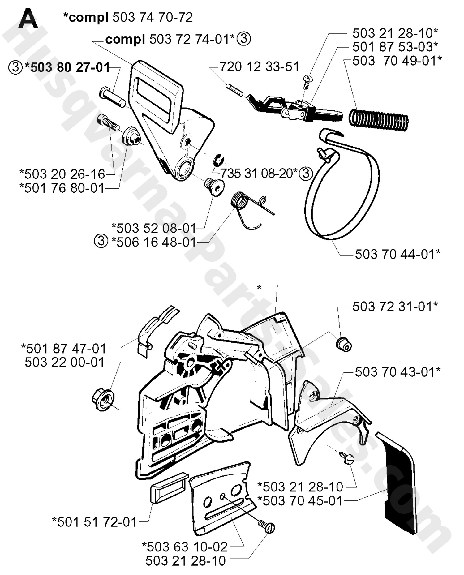 Remarkable husqvarna 51 chainsaw parts diagram images best image