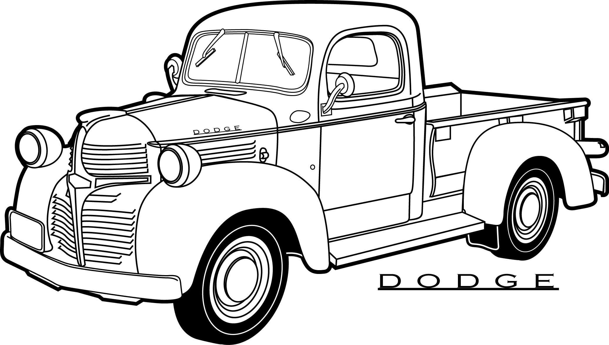 2072x1175 40 free printable truck coloring pages download procoloring