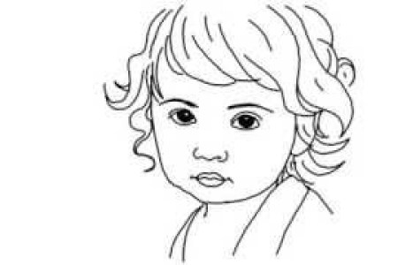how to draw a baby girl easy