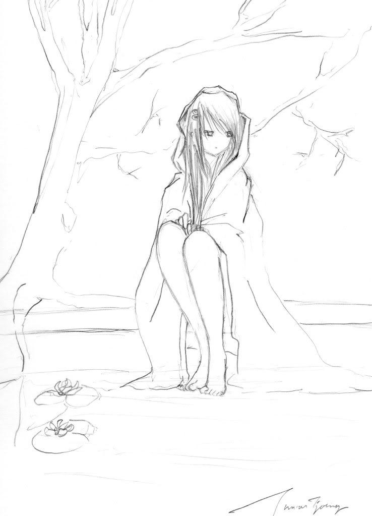 Depressed Girl Drawing at GetDrawings.com | Free for ...