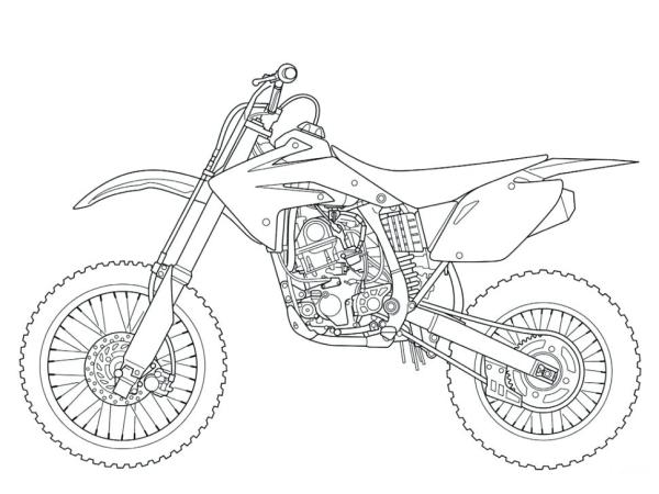 dirt bike coloring page # 29