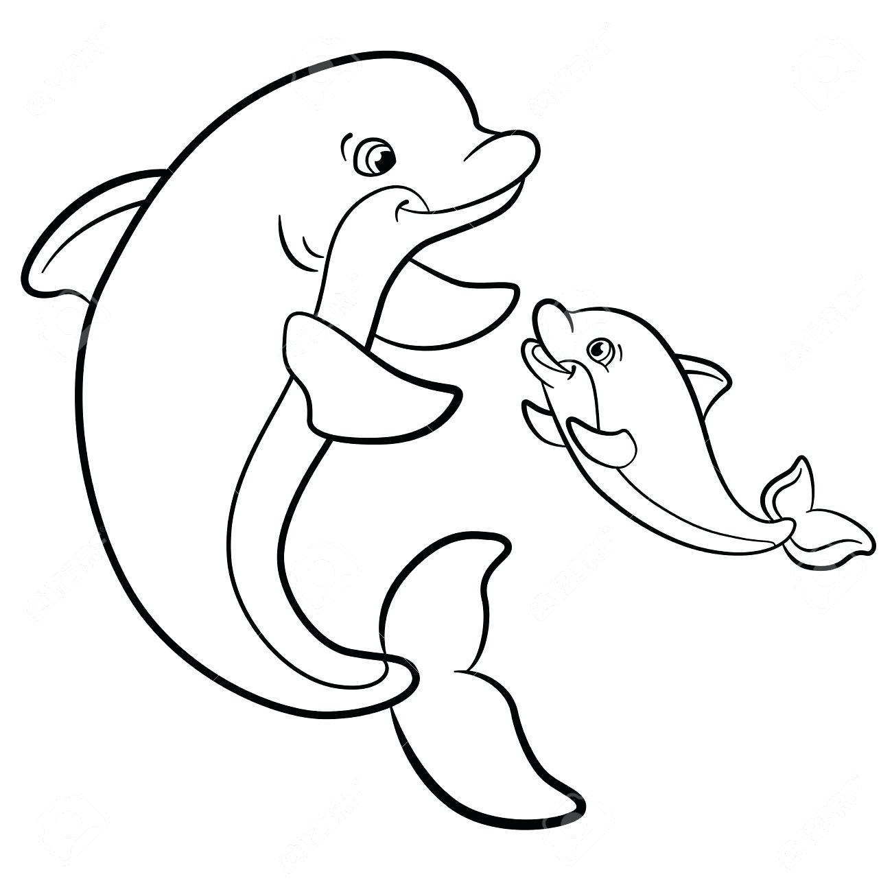 1300x1300 coloring coloring pages dolphin simple drawing to print pictures