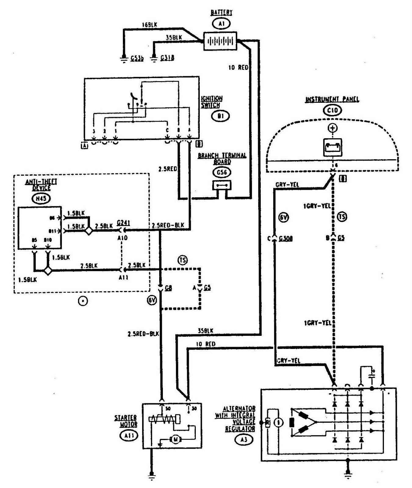 1351x1600 alfa romeo 155 starting and charging circuit diagram wiringdiagrams