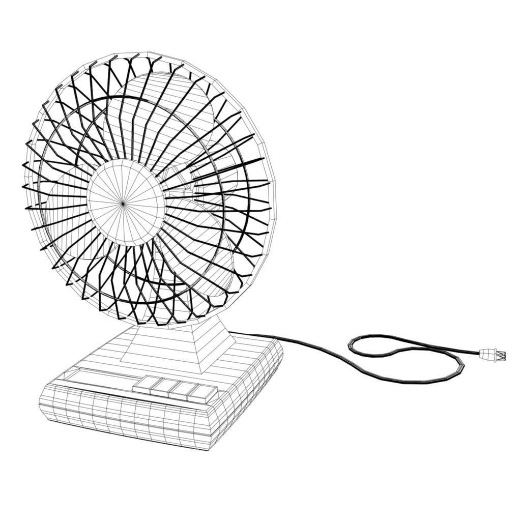1024x1024 electric fan 3d asset cgtrader