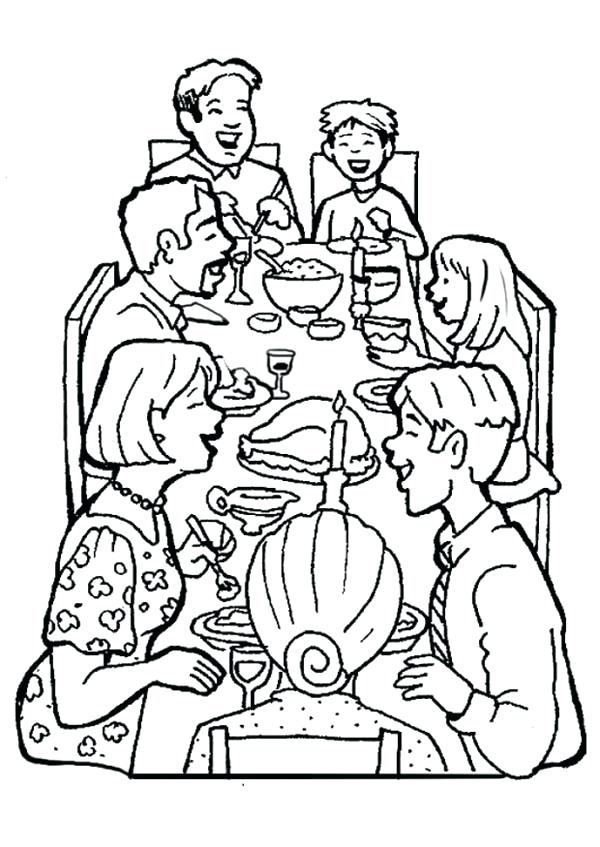 List Of Family Dinner Coloring Pages Pict
