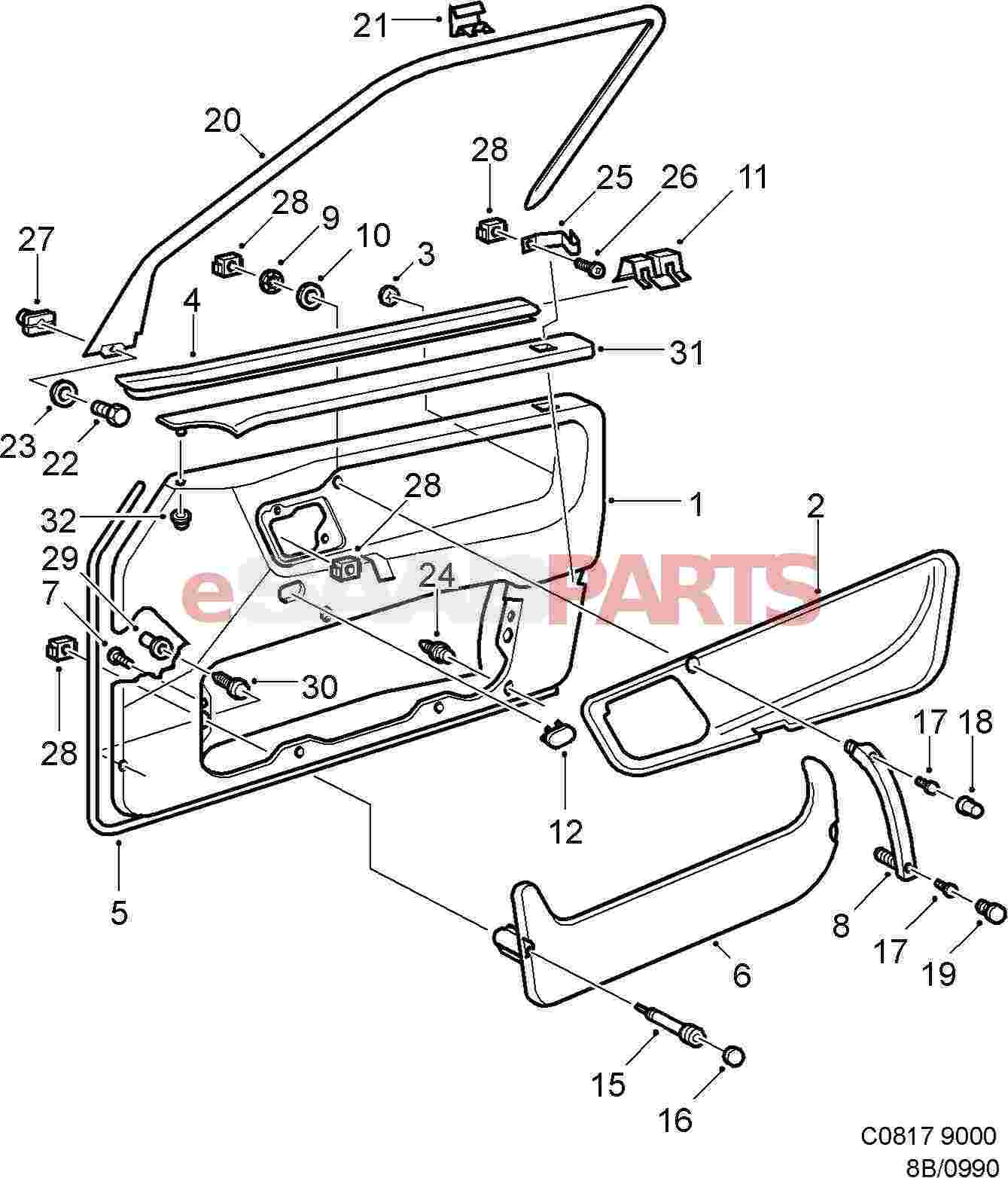 Front door drawing at getdrawings free for personal use front rh getdrawings car door lock schematic lincoln town car door parts