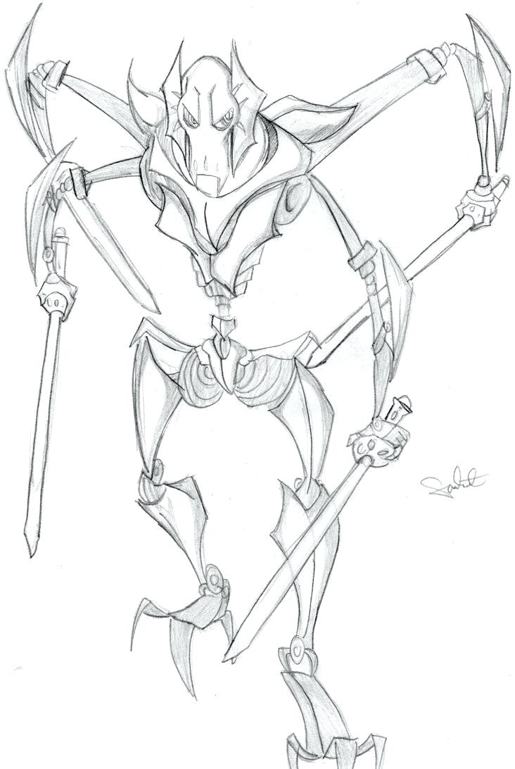General Grievous Coloring Pages Free Coloring Pages Download | Xsibe ...
