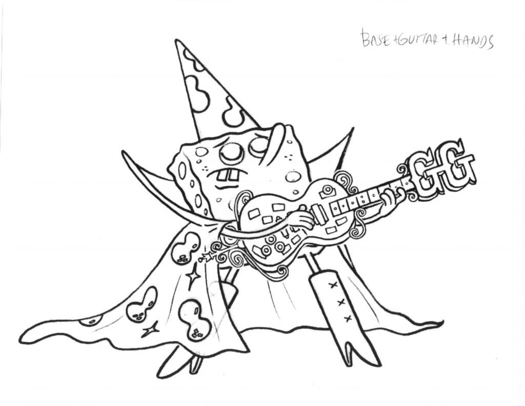 Guitar drawing outline at getdrawings free for personal use