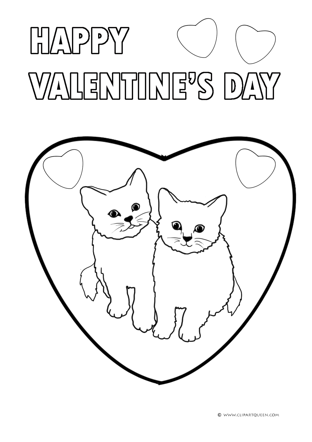Happy Valentines Day Coloring Pages Hello Kitty