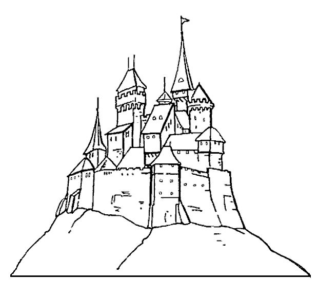 Harry Potter Castle Drawing Easy
