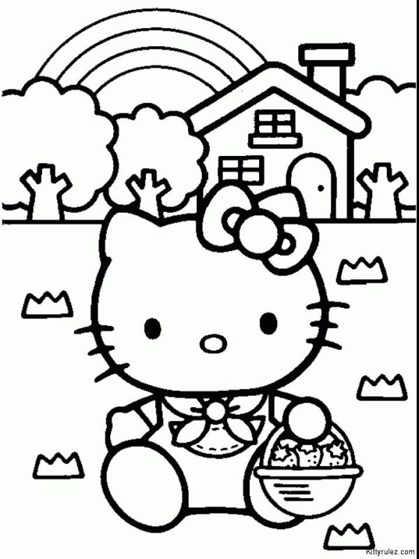 free printable hello kitty coloring pages # 31