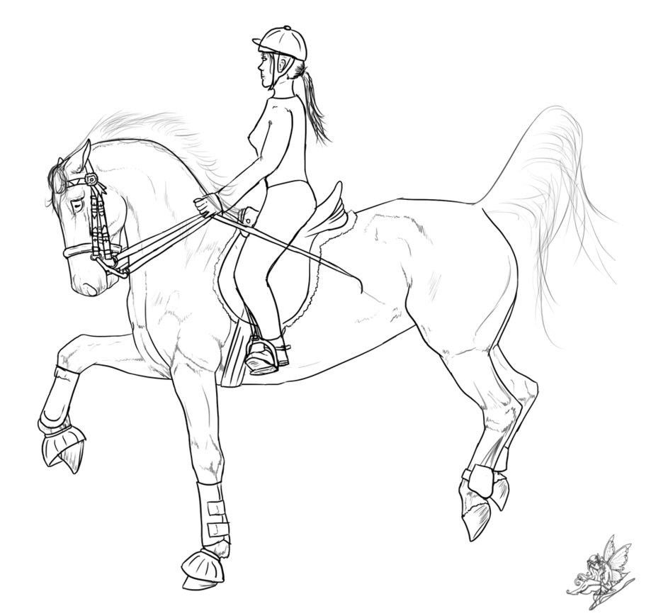 Free Coloring Pages Download Horse Riding Drawing At Getdrawings For Personal Use Of Horseback