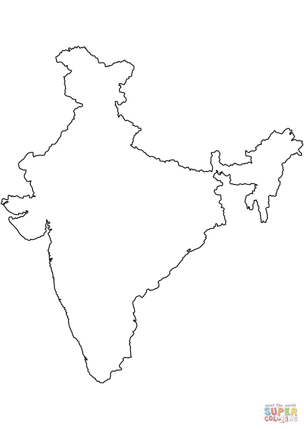 India map drawing at getdrawings free for personal use india india map drawing 18 india map