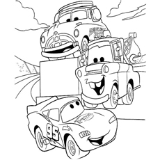 lightning mcqueen coloring pages free # 80