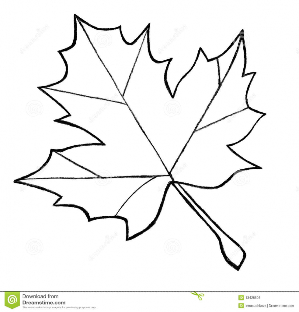 Maple Leaf Writing Template