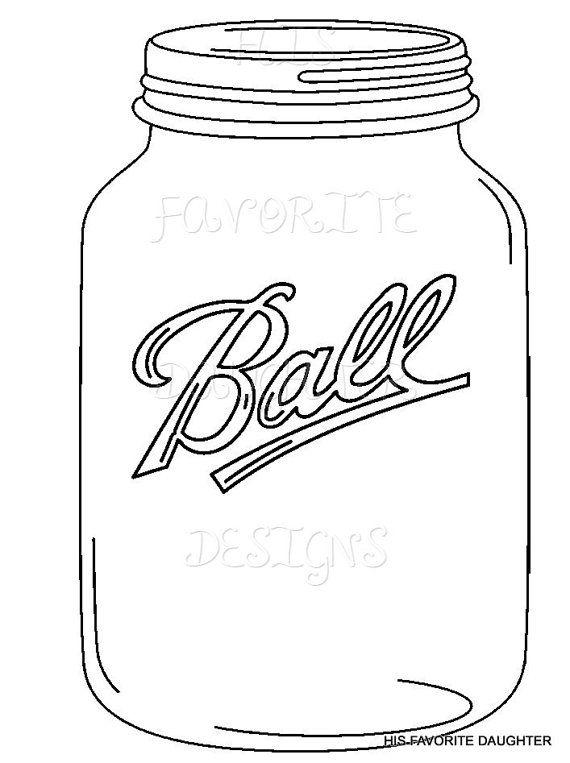 ball mason jar template