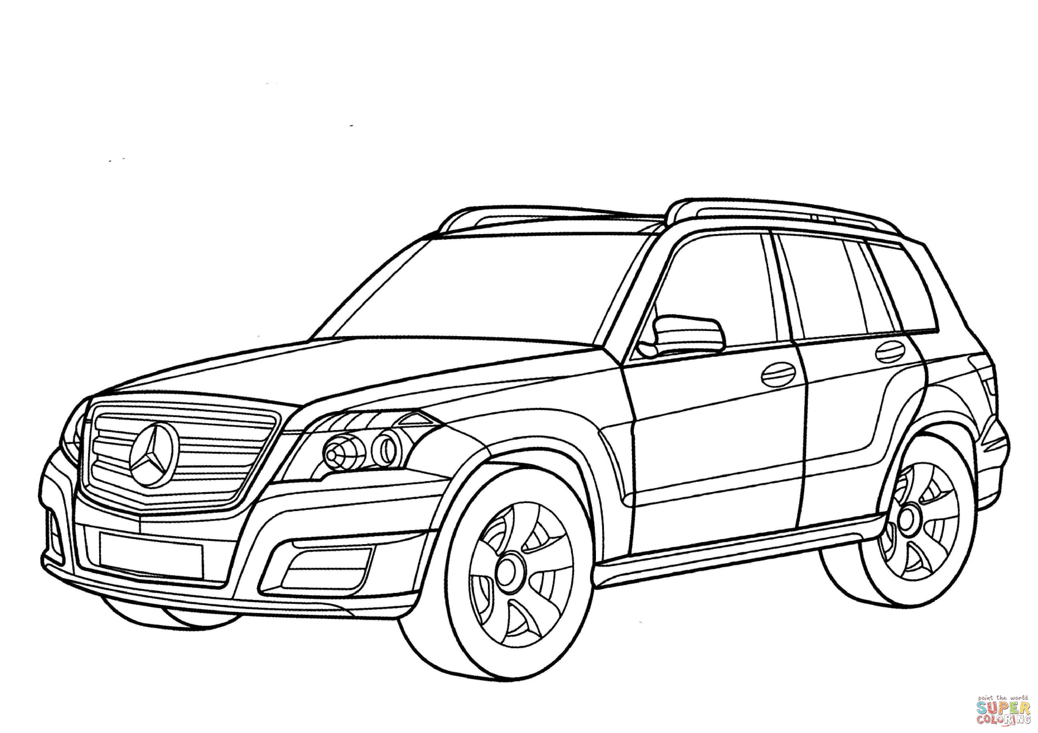 3508x2480 mercedes glk class coloring page free printable coloring pages