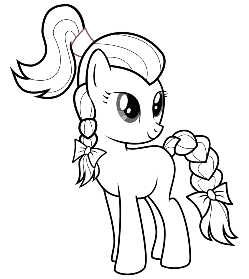 My Little Pony Outlines Pegasus