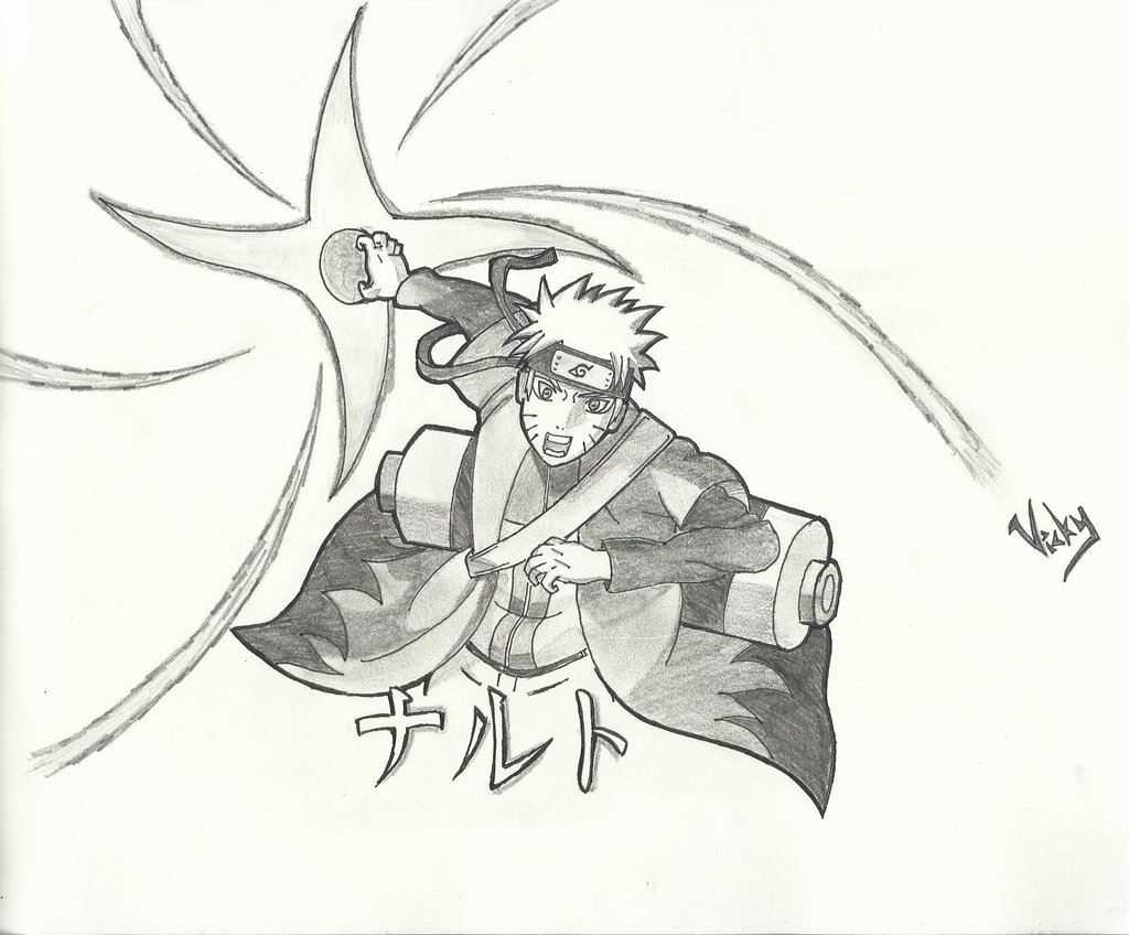Sage Drawing Rasengan Naruto Mode