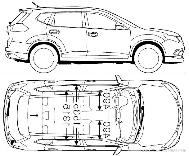Drawn Nissan Skyline Gtr R34