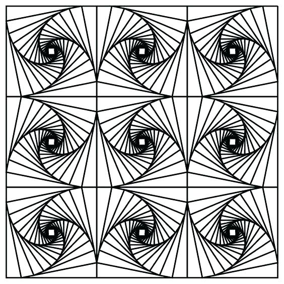 optical illusions coloring pages # 54