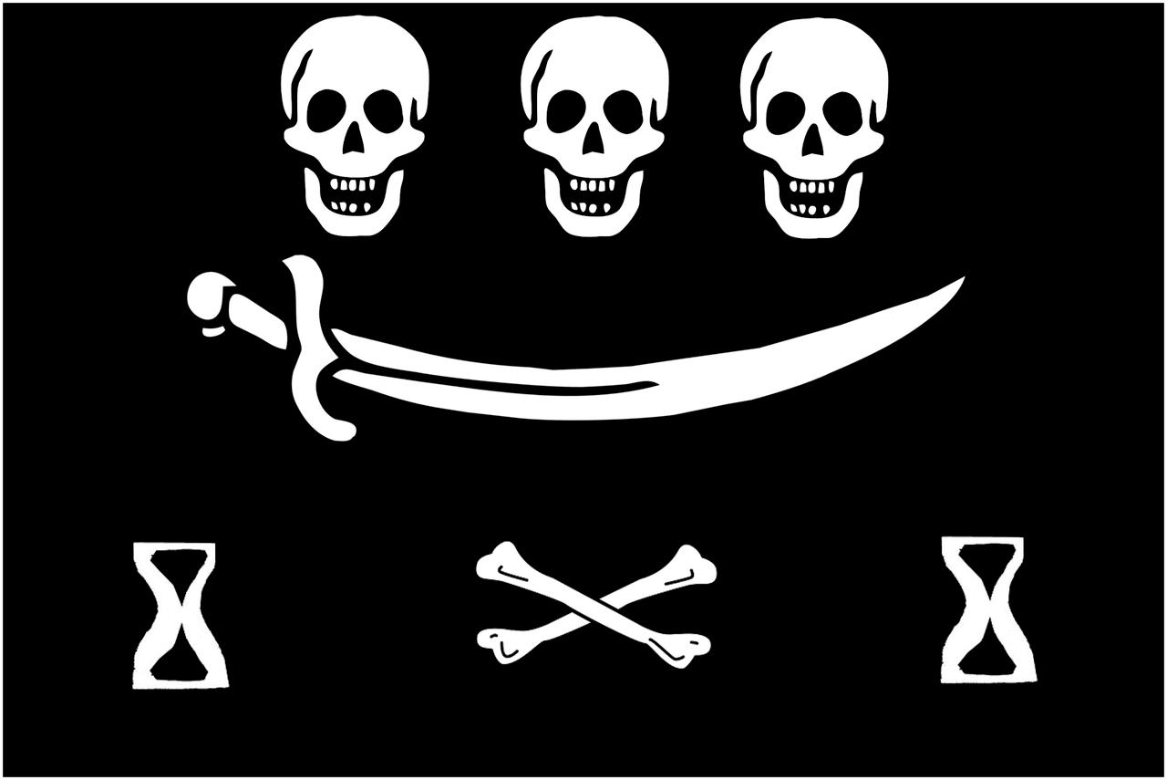 Pirate Drawings Flag Pencil