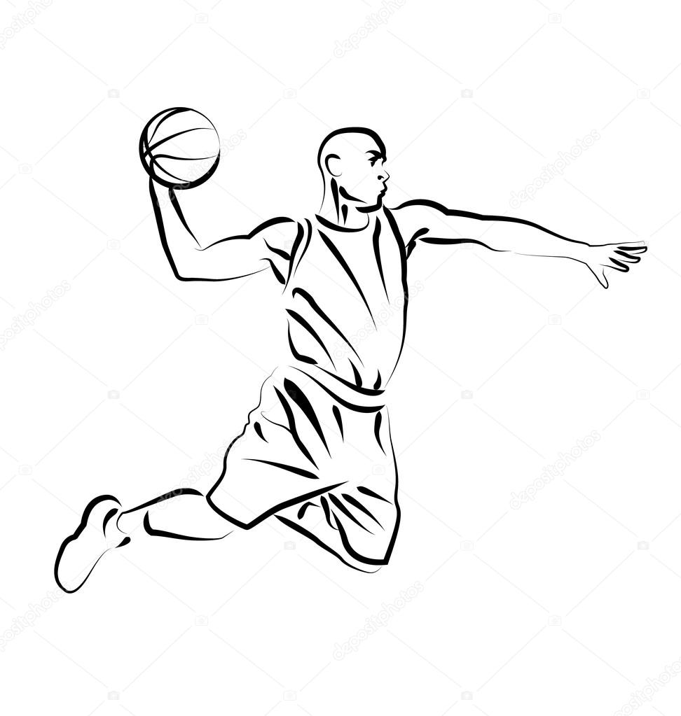 Playing basketball drawing at getdrawings free for personal playing basketball drawing 37 playing basketball drawing