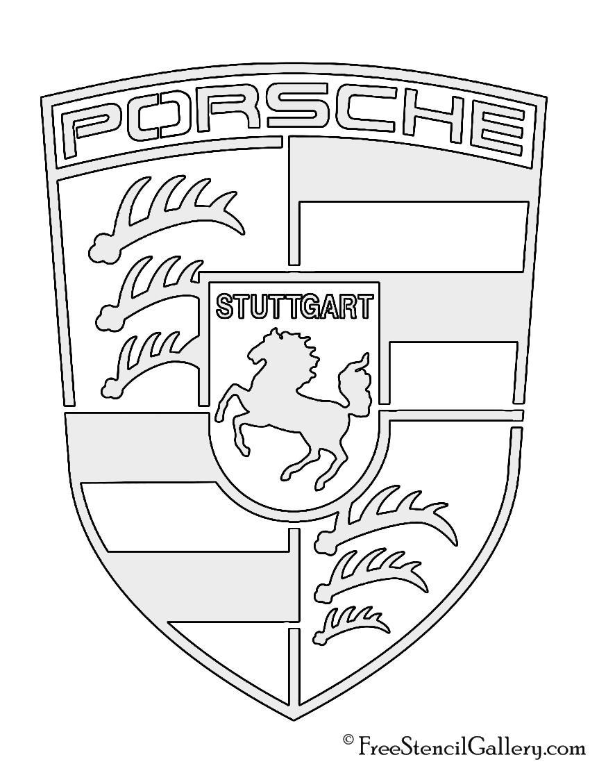 850x1100 porsche logo stencil free stencil gallery