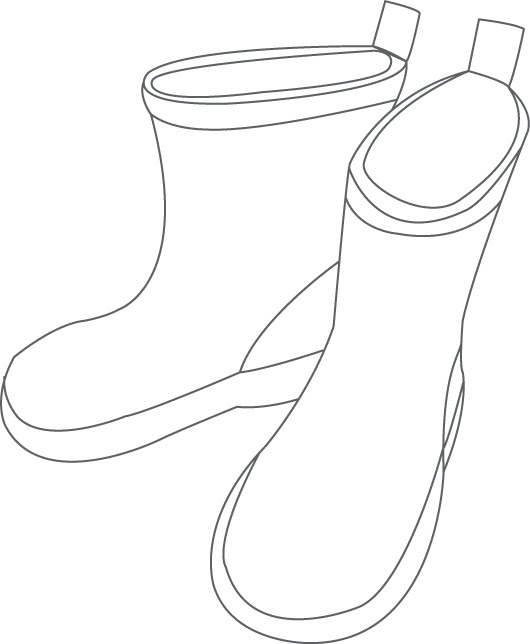 Rain Boots Toddlers Printable Template