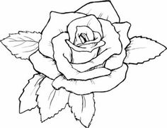 Rose Drawing Outline at GetDrawings.com | Free for ...