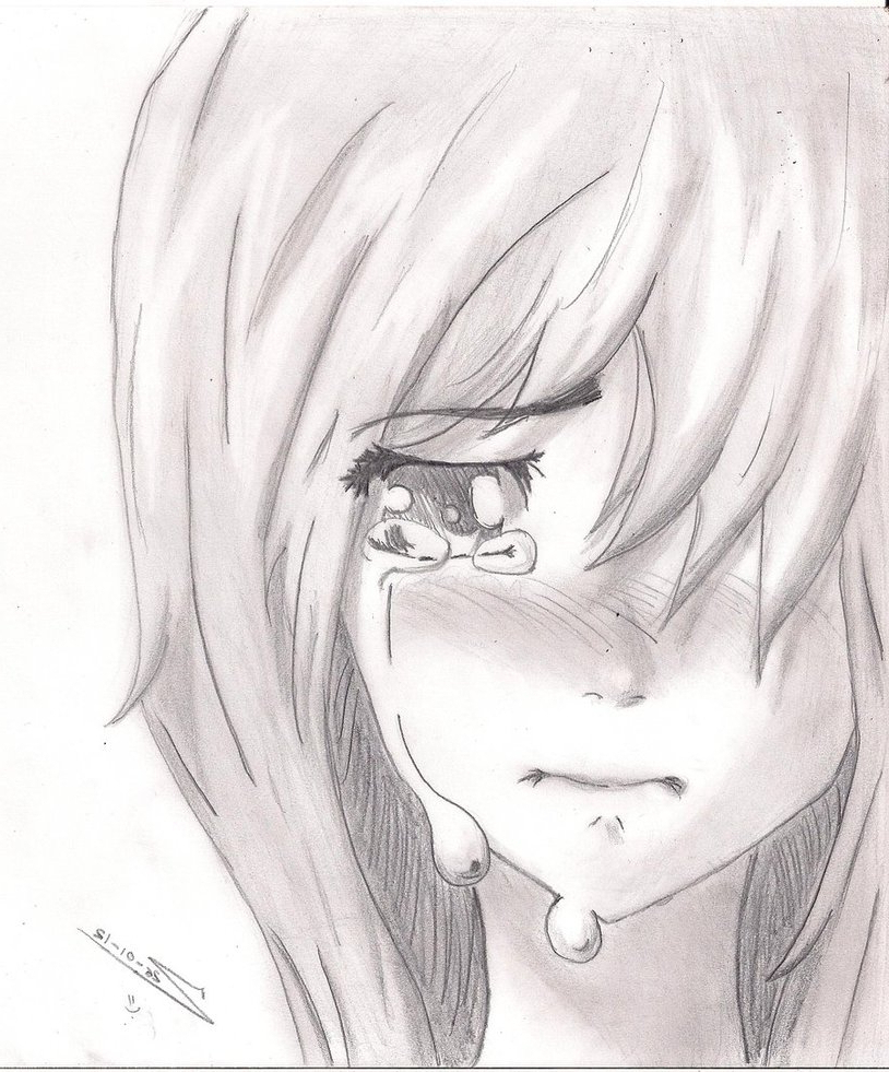 Sad Anime Drawing at GetDrawings.com | Free for personal ...