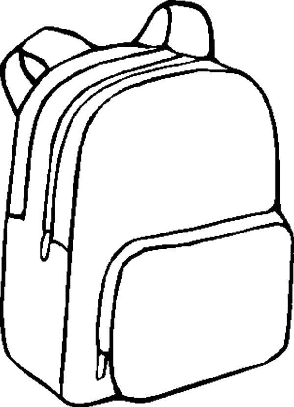 School Bags Drawing at GetDrawings.com | Free for personal ...