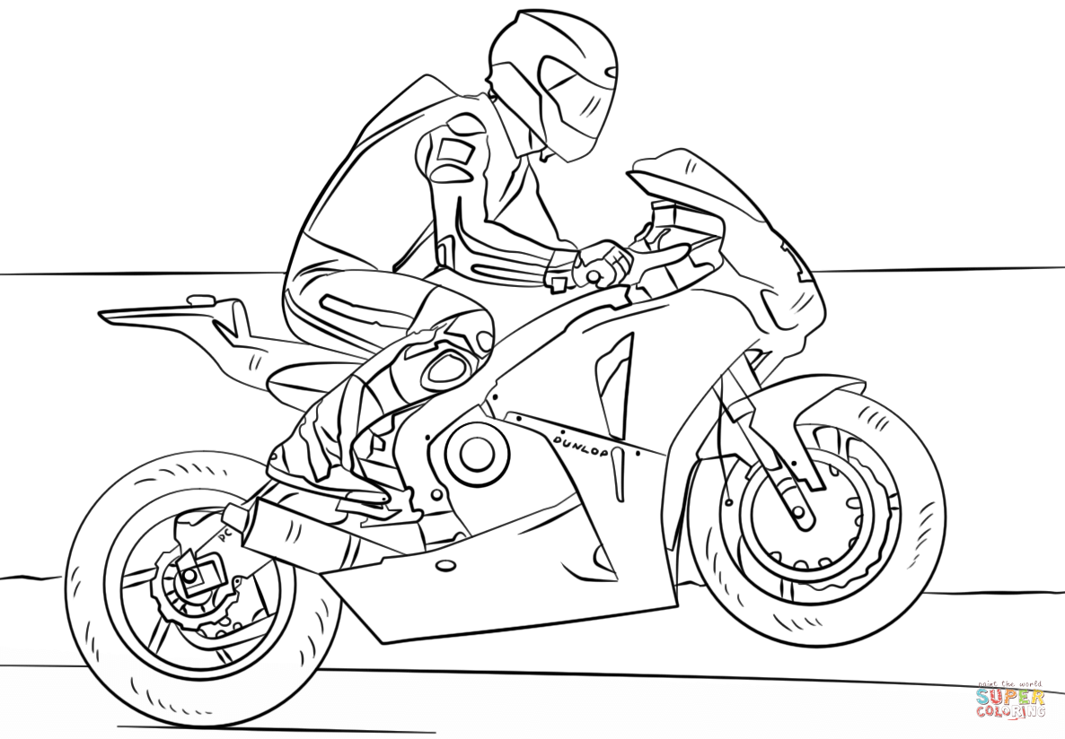1186x824 racing motorcycle coloring page free printable coloring pages
