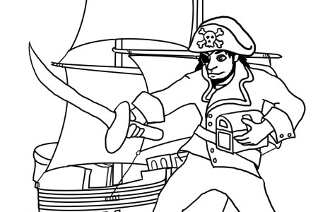 simple pirate ship drawing » 4K Pictures | 4K Pictures [Full HQ ...