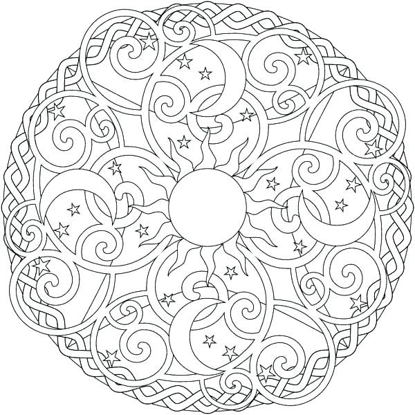 sun and moon coloring pages # 74