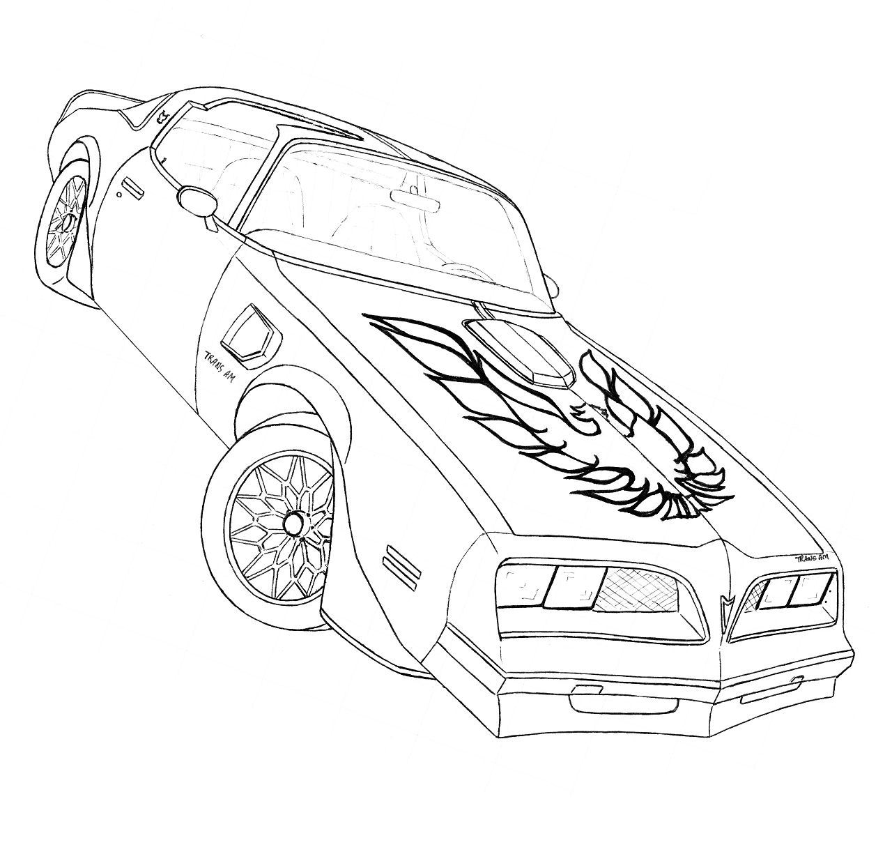 Trans am drawing at getdrawings free for personal use trans am pontiac firebird drawings 1979 firebird coloring pages