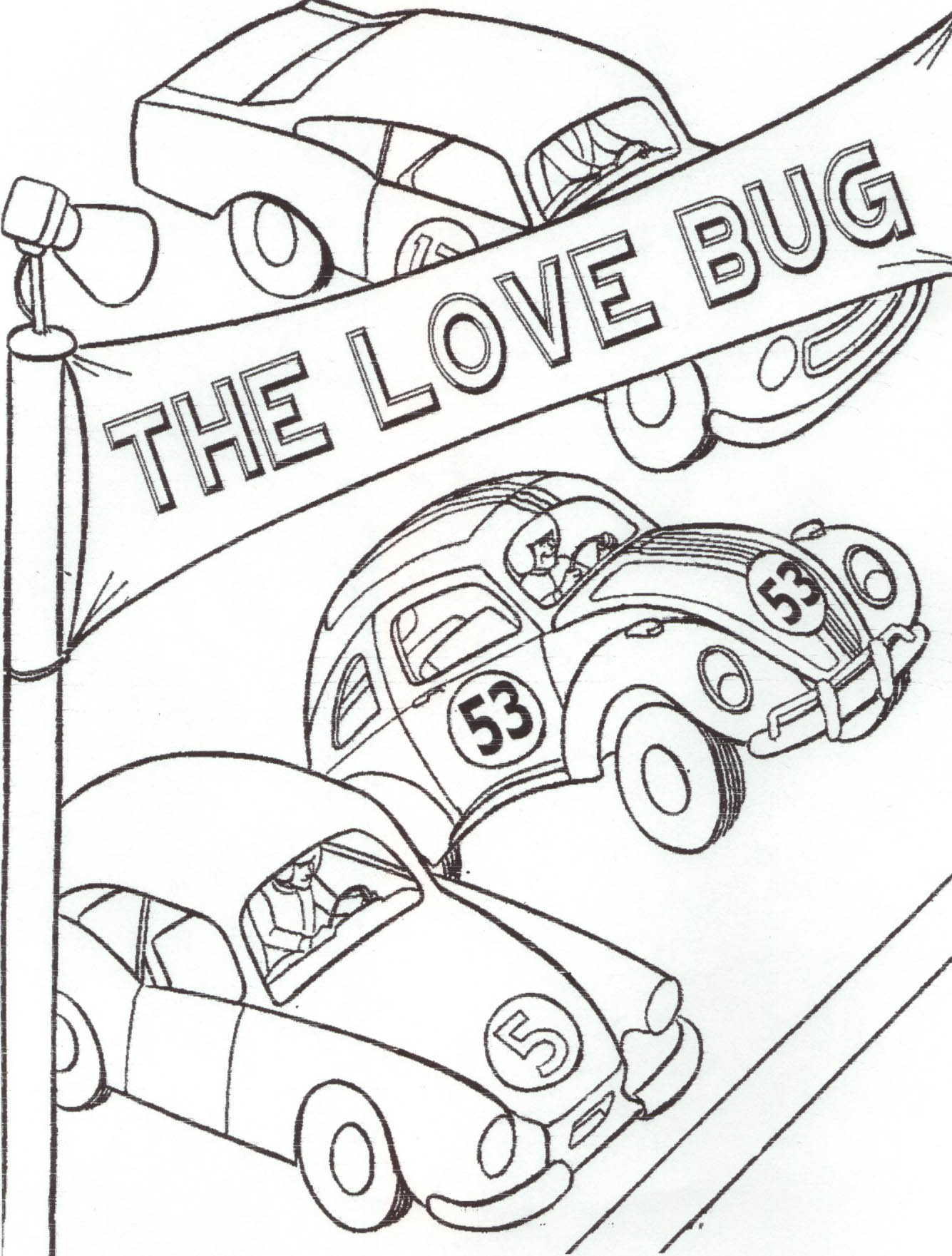 1335x1761 herbie car coloring pages tags herbie coloring pages how to draw