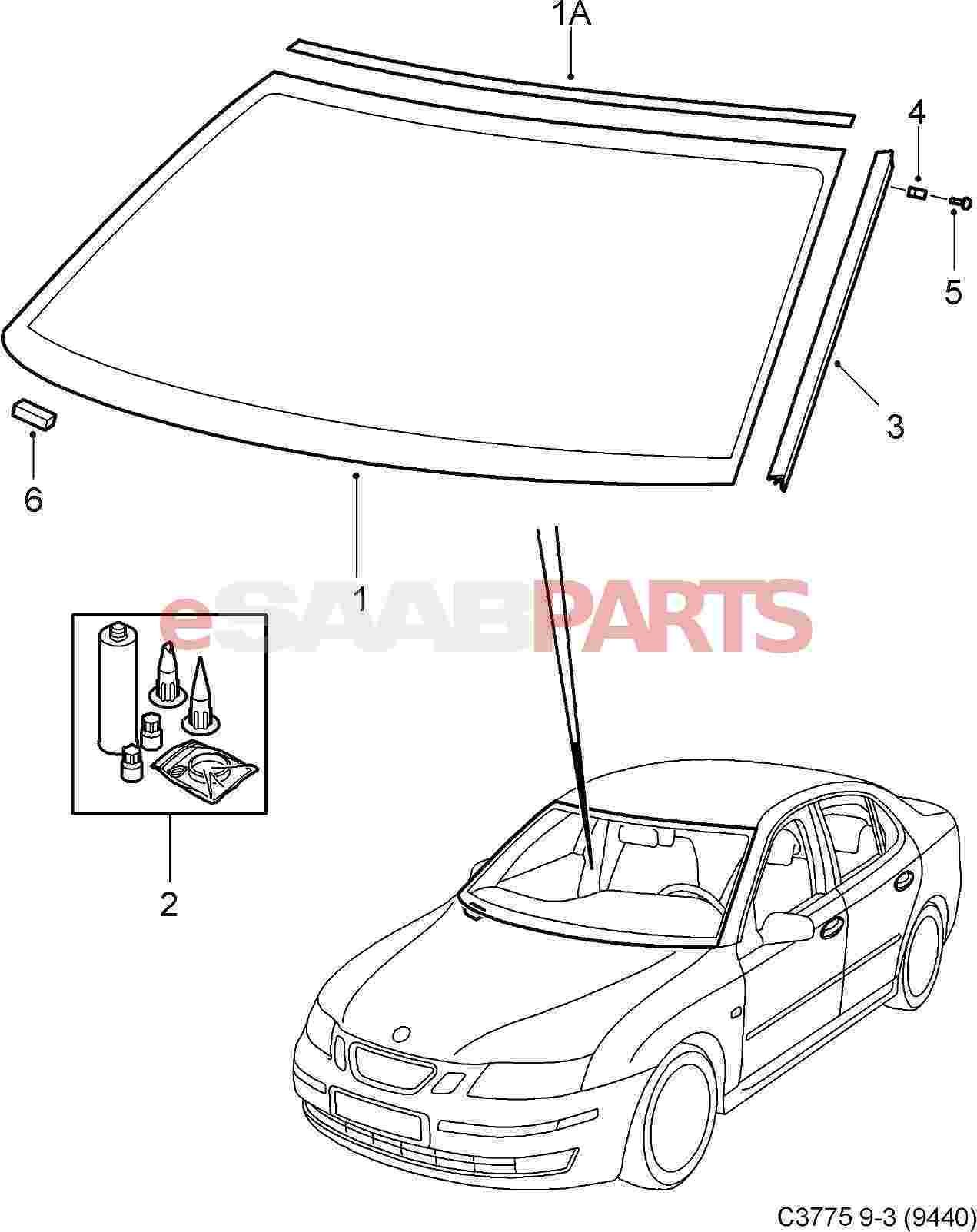 1271x1603 12773388 saab windshield 4d5d with rain sensor