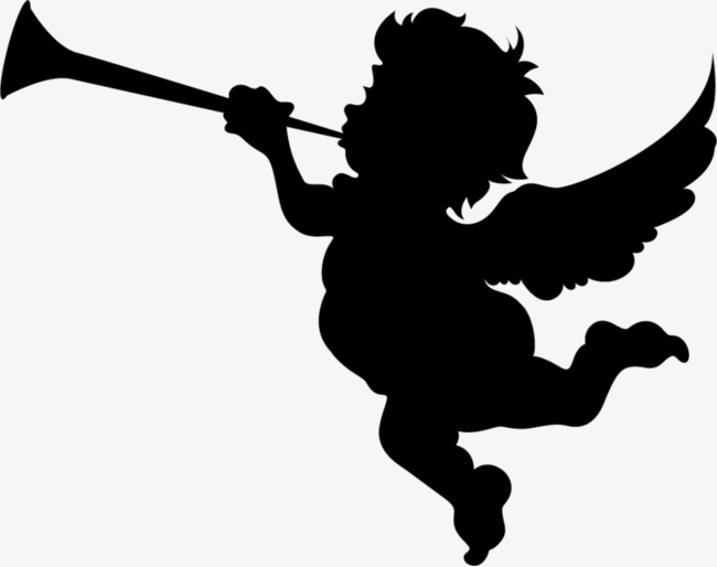 Angel With Trumpet Silhouette at GetDrawings.com | Free ...