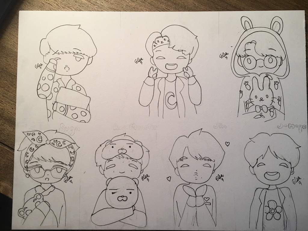 Chibi Bts Easy Pencil Drawing Www Topsimages Com