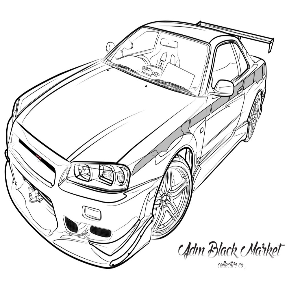 Nissan gtr r35 drawing