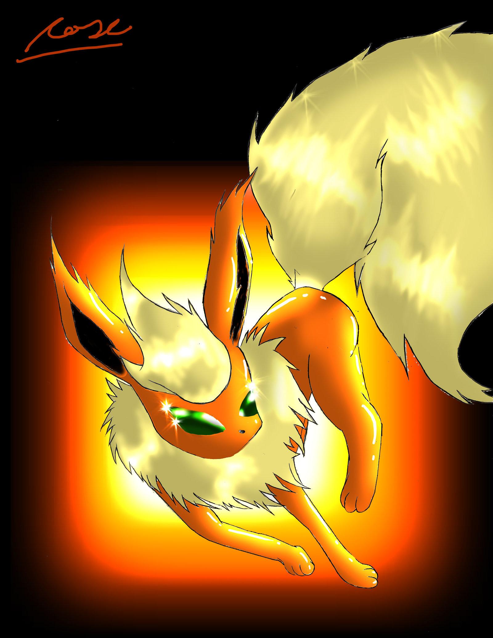 Pokemon Eevee Evolutions Flareon